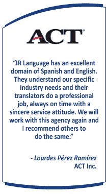 Education Translation Service Testimonial